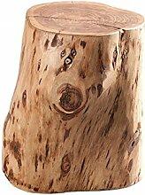 DuNord Design Beistelltisch Hocker ACACIA 45cm Akazie Massiv Massivholz Baumstamm Möbel Ablage