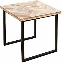 DuNord Design Beistelltisch Holztisch Massivholz