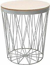 DuNord Design Beistelltisch Natur Eichenholz grau