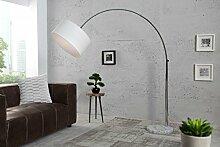 DuNord Design Bogenlampe WHITE LINEN - Leinen