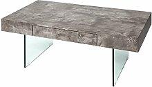 DuNord Design Couchtisch grau 110cm Beton Optik