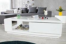 DuNord Design couchtisch weiß hochglanz modern