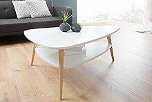 DuNord Design Couchtisch Wohnzimmertisch Holz