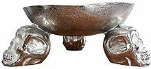 DuNord Design Deko Obstschale Silber antik