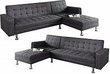 DuNord Design Ecksofa Sofa Couch LOUNGE anthrazit