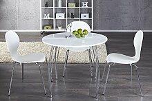 DuNord Design Esstisch Arrondi weiß rund modern