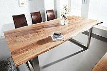 DuNord Design Esstisch Baumstamm Baumkante SOLID