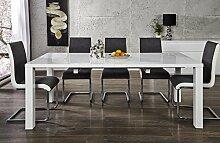 DuNord Design Esstisch Tisch BLANCHE weiß
