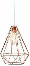 DuNord Design Hängelampe Industrie Lampe kupfer