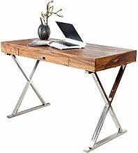 DuNord Design Schreibtisch Holz 120cm Sheesham