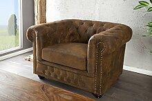 DuNord Design Sessel Chesterfield antik Look