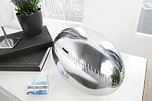DuNord Design Spardose Spartopf RUGBY 30cm silber Alu Aluminium Design Deko Geschenkidee