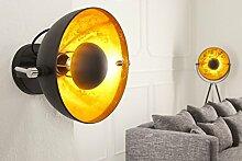 DuNord Design Wandlampe Wandleuchte CINEMA schwarz gold