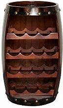 DuNord Design Weinregal Fassregal Holz 14 Flaschen