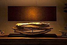 DuNord XXL Design Lampe RIVERINE schwarz Treibholz