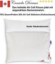 Duo-Kissen BASIC 80x80 70%Federn/Daune 30% AirCell