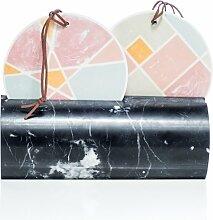 Duo Tischspiegel oder Wandspiegel mit Marmor