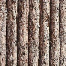 DUOCK Holz Tapete Für Wand 3D Rustikale Textur