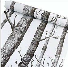 DUOCK Schwarz Weiß Baum Tapete Für Schlafzimmer
