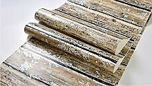 DUOCK Vintage Holzbrett Tapete für Schlafzimmer