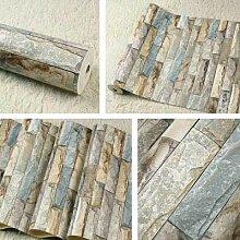 DUOCK Vintage Ziegelstein Tapete Für Wände 3 D