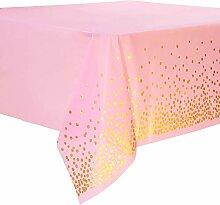 Duocute Einweg-Tischdecke in Pink und Gold für