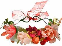 DUOMING Blumenhaar-Kranz-Zusatz-Kopfbedeckung