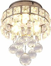 DUOMING Kristallleuchter Pendentlicht für Flur,