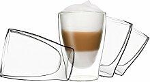 DUOS 4X 310ml doppelwandige Gläser Latte