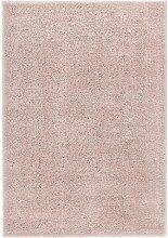 Dupad story Hochflor-Teppich 80 x 150 cm Altrosa