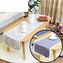 Duplex,Tischtischflagge/American Style,Ländlichen,Style,Einfache Tischfahne/Nordeuropa,Frische Couchtischfahne/Bett-runner-D 33x240cm(13x94inch)