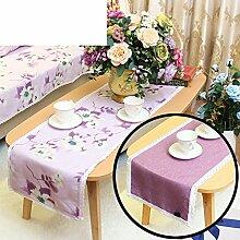 Duplex,Tischtischflagge/American Style,Ländlichen,Style,Einfache Tischfahne/Nordeuropa,Frische Couchtischfahne/Bett-runner-B 30x260cm(12x102inch)