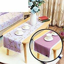 Duplex,Tischtischflagge/American Style,Ländlichen,Style,Einfache Tischfahne/Nordeuropa,Frische Couchtischfahne/Bett-runner-A 30x140cm(12x55inch)