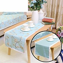 Duplex,Tischtischflagge/American Style,Ländlichen,Style,Einfache Tischfahne/Nordeuropa,Frische Couchtischfahne/Bett-runner-E 30x140cm(12x55inch)