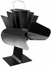 Durable 2 Blades Aluminium Black Heat Powered Herd