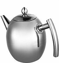 Durable Edelstahl Teekanne Tee Kaffee Kanne