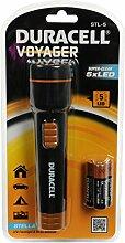 Duracell Voyager LED Taschenlampe Stella 5 LED 00723, 3 x AA Batterien