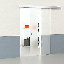 DURADOOR Glas-Schiebetür Set aus Sicherheitsglas