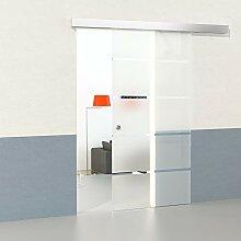 DURADOOR Glasschiebetür Set aus Sicherheitsglas