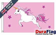 DuraFlag® Einhorn (Pink) Super Qualität Flagge
