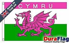 DuraFlag® Pink Cymru Super Qualität Flagge