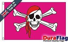 DuraFlag® Pink Piraten Super Qualität Flagge