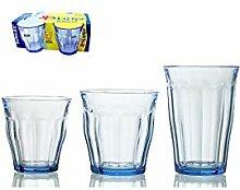 Duralex Set mit 12 x 4 Gläsern aus Glas Picardie