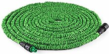 Duramaxx • Flex Extend • flexibler Gartenschlauch • Wasserschlauchverlängerung • dehnbar bis 30 Meter • Bewässerung • Klickverbindung • selbstaufrollend • Wasserhahn Adapter • Schnellkupplung • knickfest • federleicht • grün