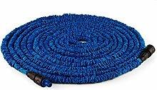 Duramaxx • Flex Extend • flexibler Gartenschlauch • Wasserschlauchverlängerung • dehnbar bis 30 Meter • Bewässerung • Klickverbindung • selbstaufrollend • Wasserhahn Adapter • Schnellkupplung • knickfest • federleicht • blau
