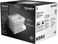 Duravit kt006202222–Set Badmöbel Waschplatz + Unterschrank weiß glänzend