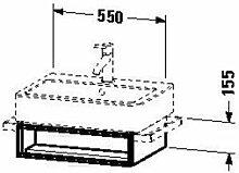 Duravit ve600404747Waschtisch Waschbecken 550x