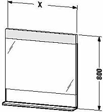 Duravit ve730001818-Spiegel Ablage 450x