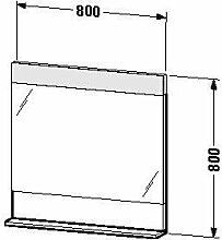 Duravit ve730200303-Spiegel Ablage 800x