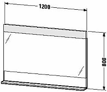 Duravit ve730408787–Spiegel Ablage 1200x